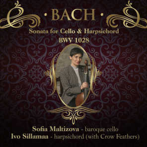 Bach Sonata for Cello & Harpsichord 4 Allegro Bwv 1028, Ivo Sillamaa / Harpsichord With Crow Feathers