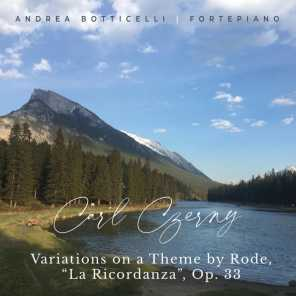 """Variations on a Theme by Rode, Op. 33 """"La Ricordanza"""""""