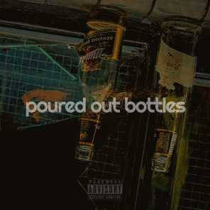 poured out bottles