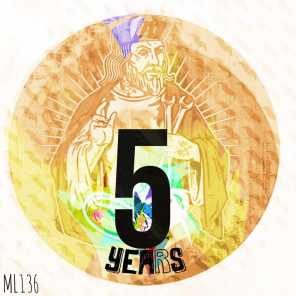 Moustache Label Anniversary 5 Years